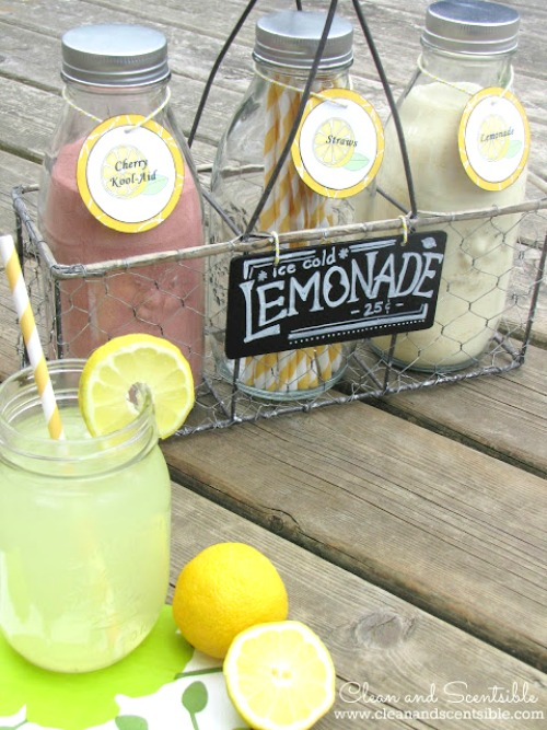 Summer lemonade bar.
