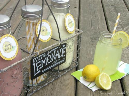 Cute summer lemonade bar!