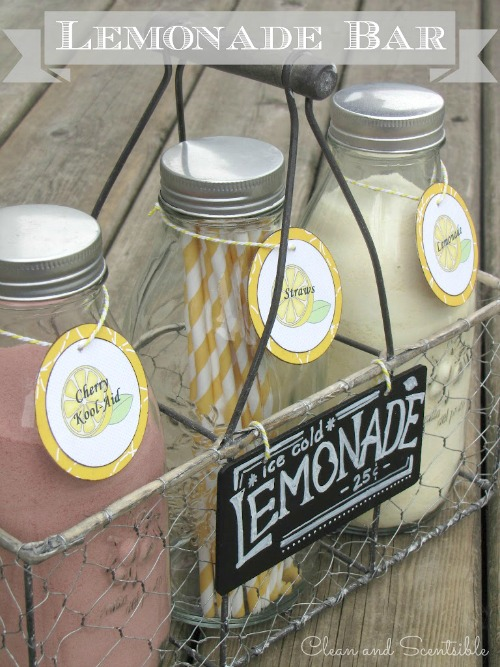 Cute summer lemonade bar!