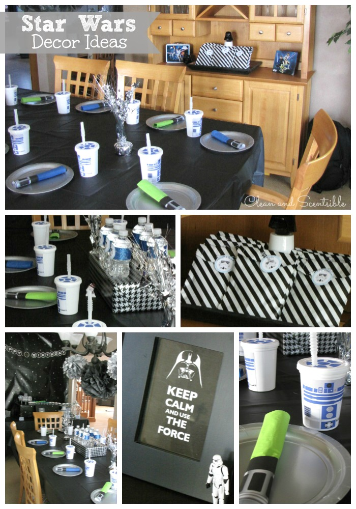 Party Planning We Ended Up Going With A Blue Green And Black Color Scheme You Can Find The Links For How To Make R2 D2 Cups Light Saber