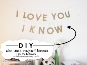 DIY: Star Wars Inspired Banner [for the bedroom]   allonsykimberly.com