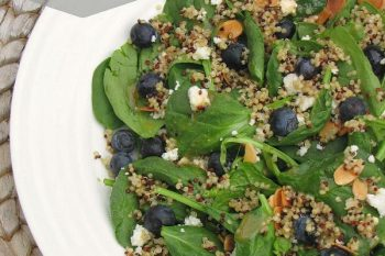 Blueberry Quinoa Salad {Summer Progressive Dinner}