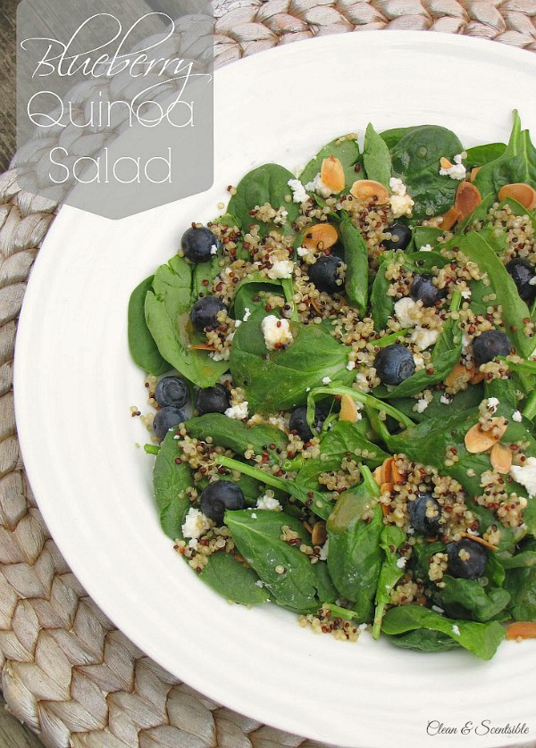 This blueberry quinoa salad makes the perfect light summertime meal ...