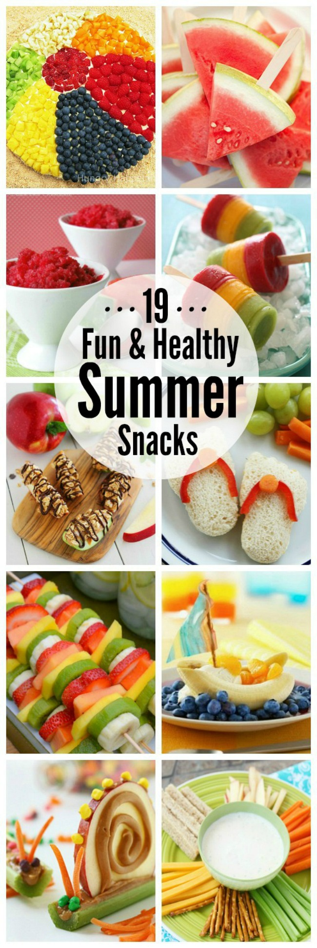 I love all of these fun and healthy summer snack ideas.  The kids will gobble them up!