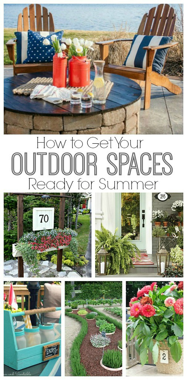 Lots of easy DIY projects to get your outdoor spaces ready for summer!