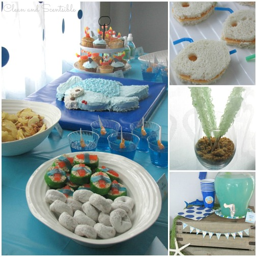 Fun Under the Sea party food ideas.