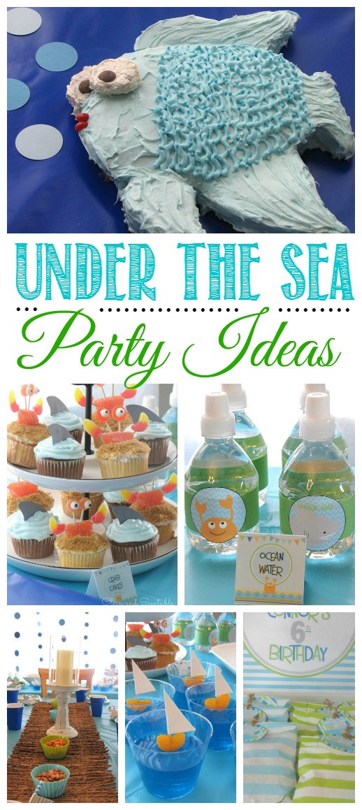 Love all of these ideas for an awesome Under the Sea party.  Would also work for a fun summer party or pool party!