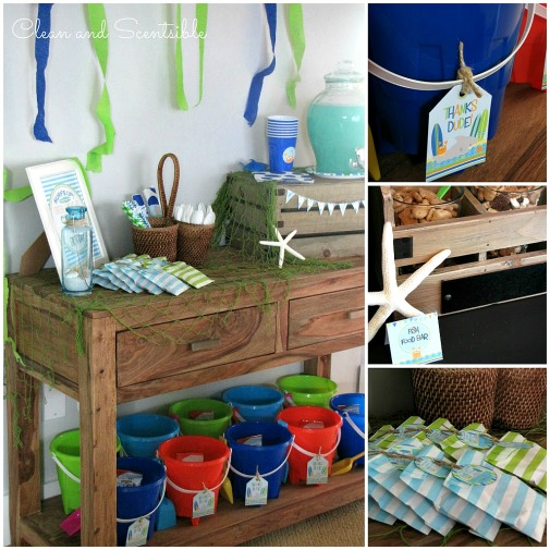 Such a cute Under the Sea party!  Lots of ideas for food, decor and treat bags.  // from Clean and Scentsible