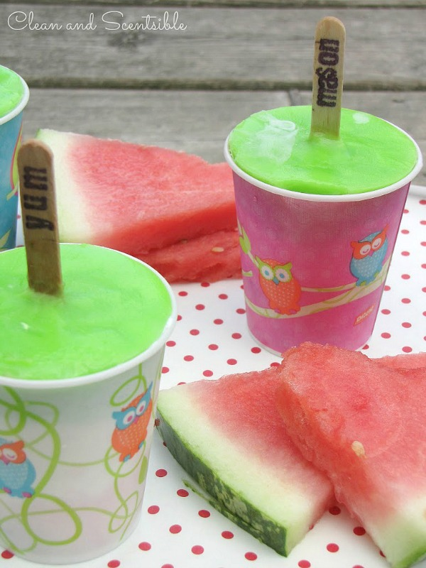 Watermelon Pudding Pops - Clean and Scentsible