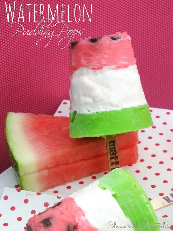 Watermelon Pudding Pops - such a fun summer treat!