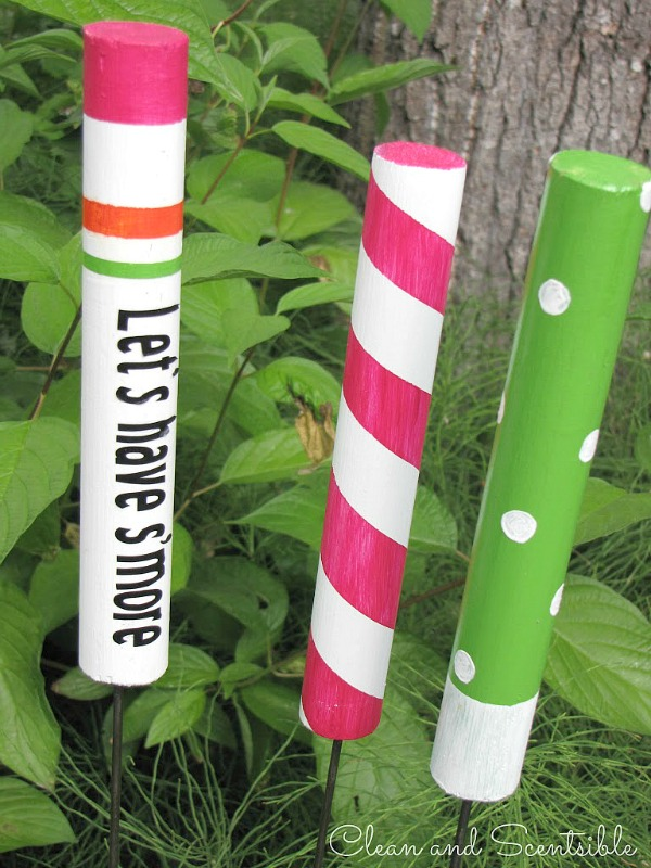 Create custom roasting sticks - fun camping activity for kids!