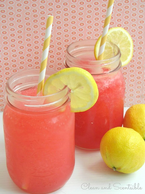 Raspberry Cherry Lemonade Slush