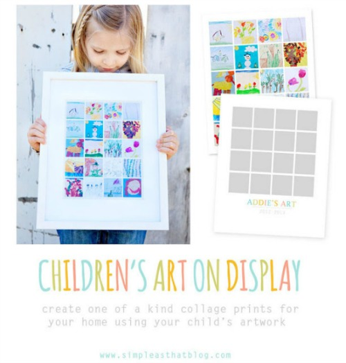 Lots of great ideas for displaying kids' artwork!