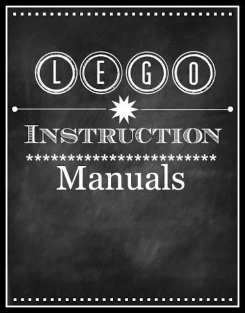 Lego manual storage ideas.