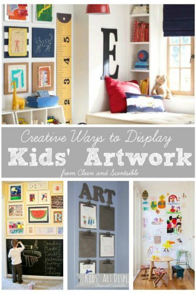 So many great ideas for organizing and displaying kids' artwork!