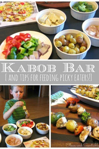 Kabob Bar {Tips for Feeding a Picky Eater}