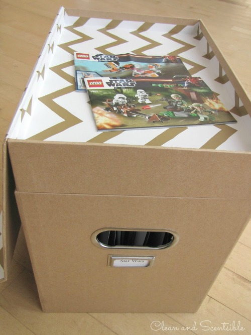 Great idea for storing those Lego manuals! & Lego Manual Storage - Clean and Scentsible