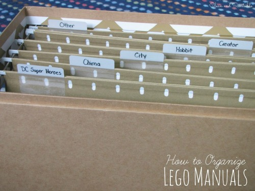 Lego Manual Storage