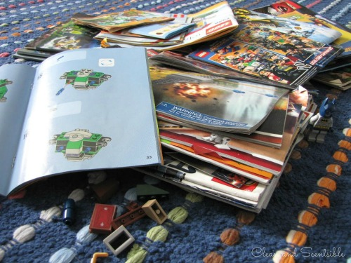 Great idea for storing those Lego manuals!