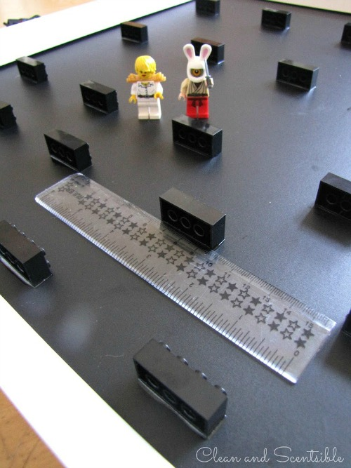 DIY Lego mini-figure storage.