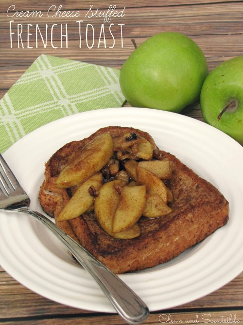 Cream Cheese Stuffed Apple French Toast - like apple pie for breakfast!  This is SO good!