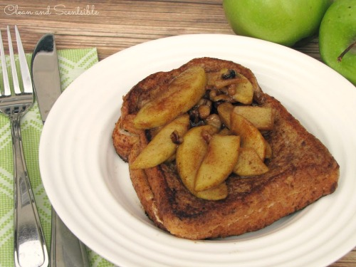 Cream cheese stuffed apple french toast - it's like having apple pie for breakfast!  This is SO good!