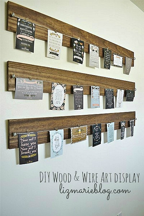 Lots Of Great Ideas For Displaying Kids Artwork