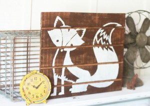 Easy directions for fox pallet art!