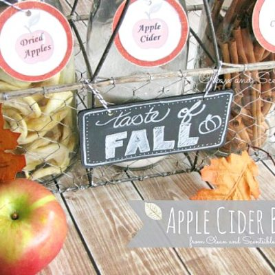 Apple cider bar with free printable labels.