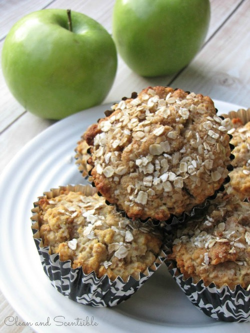 Healthy Apple Muffins.  These would make an awesome breakfast on the go or afterschool snack for the kiddos