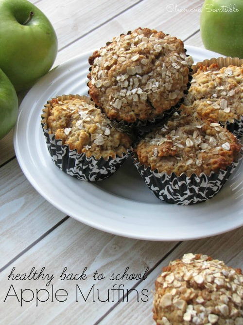 Healthy Apple Muffins.  These would be perfect for a breakfast on the go or afterschool snack.