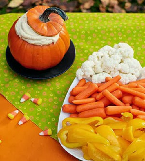 Candy Corn Veggie Plate plus lots of other fun and healthy food ideas.