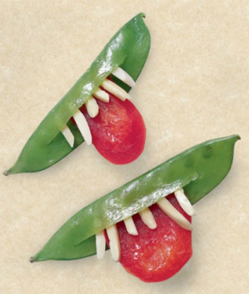 Veggie Goblin Grins plus lots of other fun and healthy Halloween food ideas.