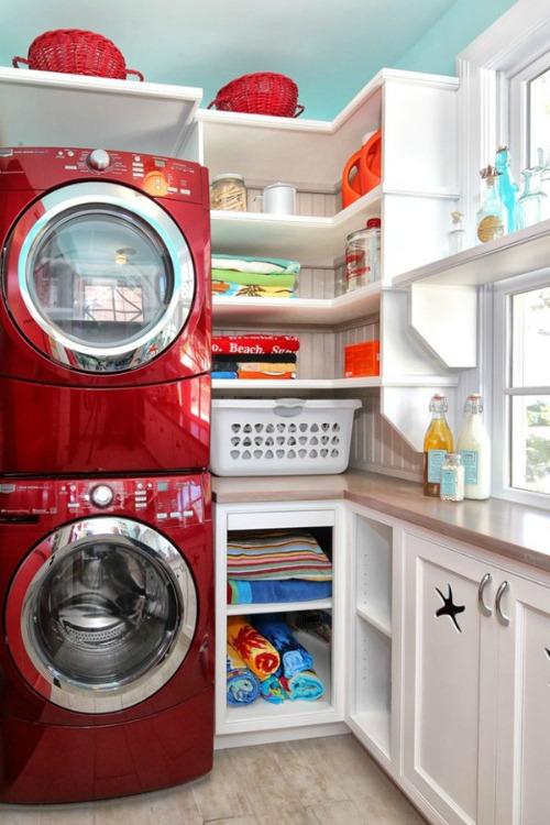 Beautiful laundry room decor and organization ideas!