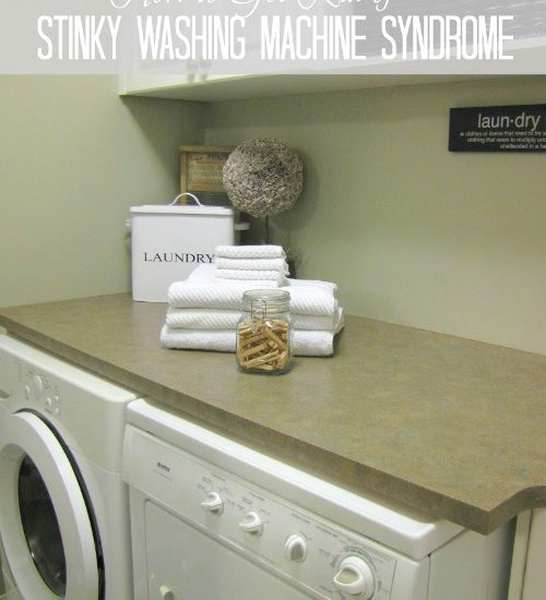 How to get rid of that stinky smell from washing machines.
