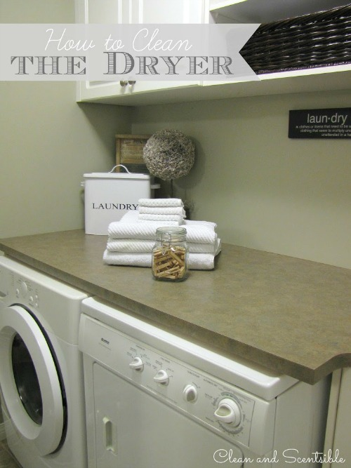 Great tutorial on how to clean your dryer to improve efficiency and decrease the risk of dryer fires.  A cleaning must do!