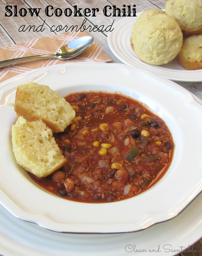 chili slow cooker cooker chili and cornbread clean and scentsible 30927