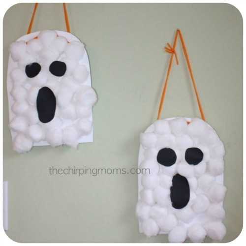 Cotton ball ghosts and 20 other ghostly Halloween ideas