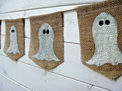 Ghost banner and 20 other ghostly Halloween ideas.