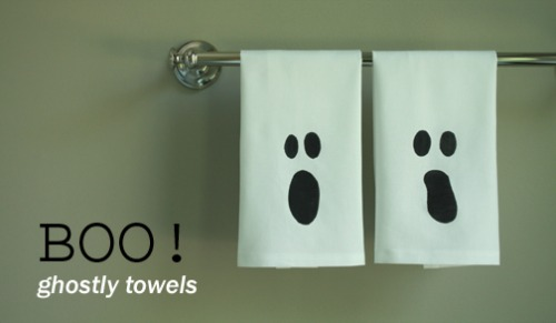 Ghost towels and 20 other ghostly Halloween ideas.