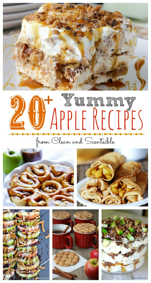 20 of The Best Apple Recipes.  So many yummy ideas!  // cleanandscentsible.com