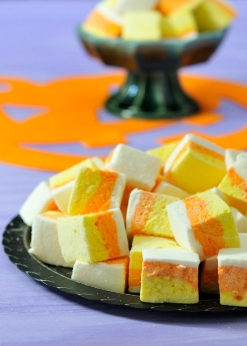 Candy corn marshmallows and lots of other candy corn inspired food ideas!