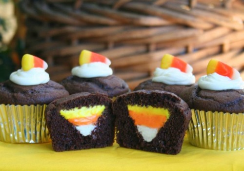 Candy Corn Cupcakes and lots of other fun candy corn inspired food ideas!