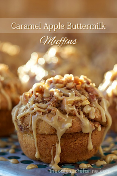 Caramel Apple Buttermilk Muffins - 20 of The Best Apple Recipes.