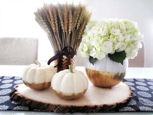 Gold Dipped Flower Vase Pumpkins and other fun pumpkin ideas.