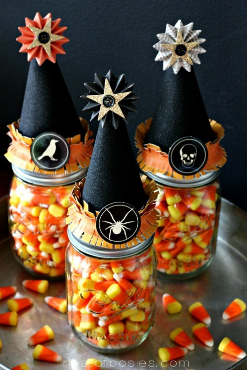Witches' vitamins.  Lots of ther fun candy corn inspired ideas too!