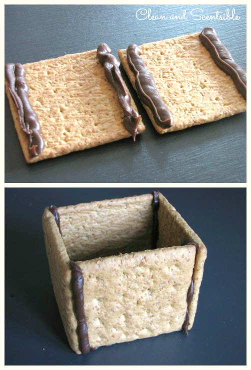 "Make a ""Gingerbread"" House from graham crackers"
