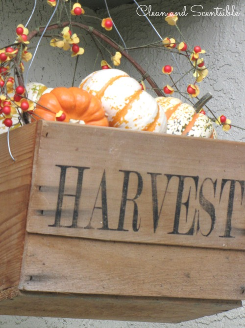 Fall Hanging Basket And Other Outdoor Decorating Ideas Via Clean Scentsible