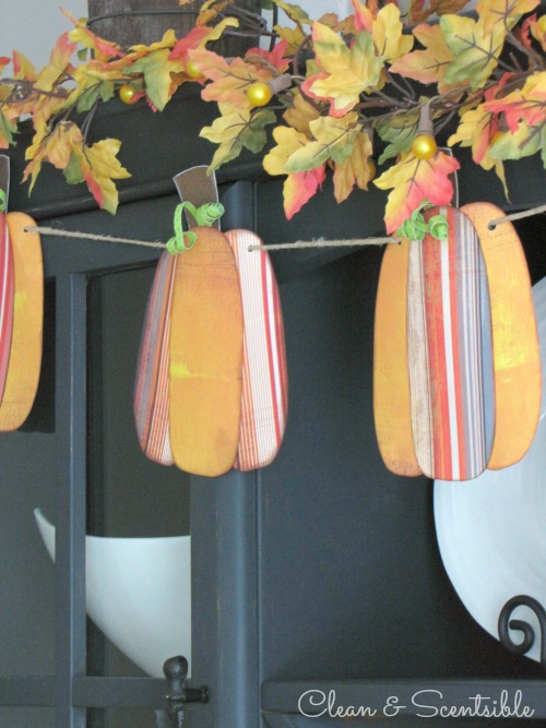 Pumpkin Bunting and lots of other ideas for fall and Thanksgiving decorating
