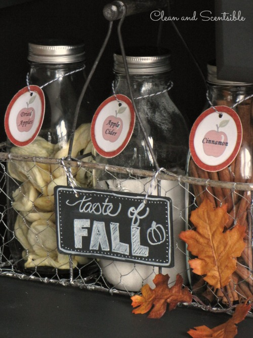 Fun apple cider bar and lots of other fall and Thanksgiving decorating ideas for your home!